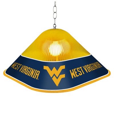 West Virginia Mountaineers Game Table Light-Square-Gold | Grimm Industries |WV-410-01