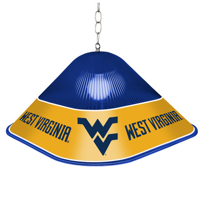 West Virginia Mountaineers Game Table Light-Square-Blue | Grimm Industries |WV-410-02