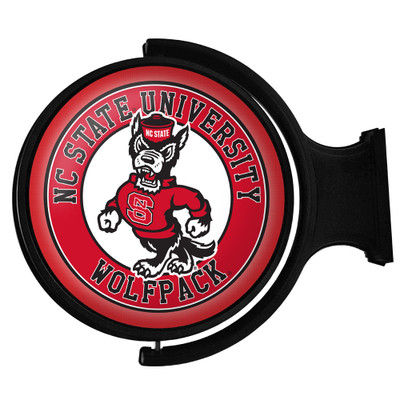 NC State Wolfpack Rotating Illuminated LED Team Spirit Wall Sign-Round-Wolfpack | Grimm Industries |NC-115-02