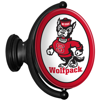 NC State Wolfpack Rotating Illuminated LED Team Spirit Wall Sign-Oval-Wolfpack | Grimm Industries |NC-125-02