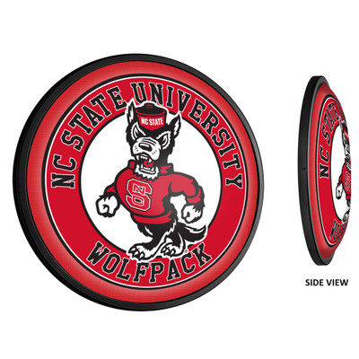 NC State Wolfpack Slimline Illuminated LED Team Spirit Wall Sign-Round-Wolfpack | Grimm Industries |NC-130-02