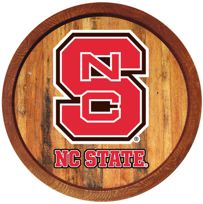 NC State Wolfpack 20 inch Barrel Team Logo Wall Sign-Primary Logo-Color | Grimm Industries |NC-240-01