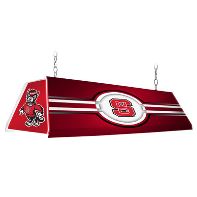 NC State Wolfpack 46 inch Edge Glow Pool Table Light-Red | Grimm Industries |NC-320-01
