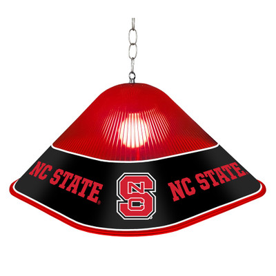 NC State Wolfpack Game Table Light-Square-Red-Primary Logo | Grimm Industries |NC-410-01