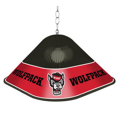 NC State Wolfpack Game Table Light-Square-Black-Wolfpack | Grimm Industries |NC-410-02