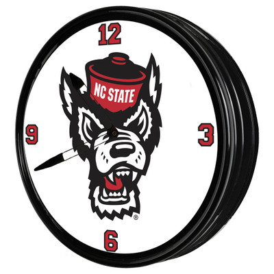 NC State Wolfpack 19 inch Illuminated LED Team Spirit Clock-Wolfpack | Grimm Industries |NC-550-02