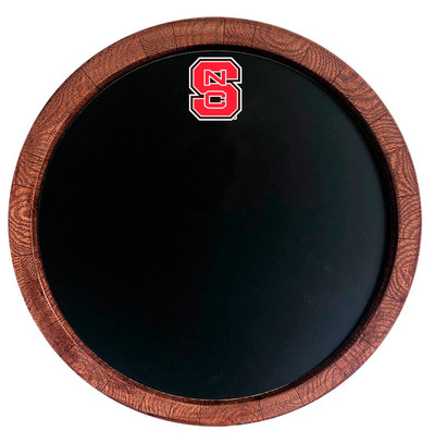 NC State Wolfpack 20 inch Barrel Team Logo Chalkboard-Primary Logo | Grimm Industries |NC-630-01
