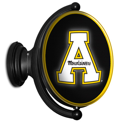Appalachian State Mountaineers Rotating Illuminated LED Team Spirit Wall Sign-Oval-Primary Logo | Grimm Industries |AP-125-01