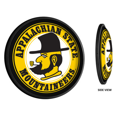 Appalachian State Mountaineers Slimline Illuminated LED Team Spirit Wall Sign-Round-Secondary Logo | Grimm Industries |AP-130-02