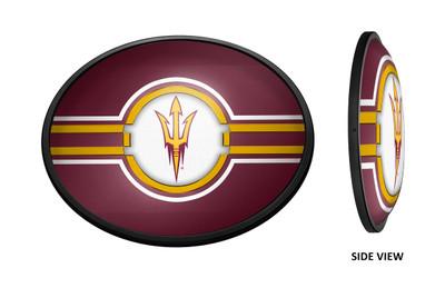 Arizona State Sun Devils Slimline Illuminated LED Team Spirit Wall Sign-Oval- Logo | Grimm Industries |AS-140-01