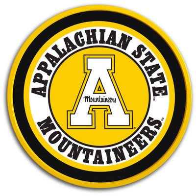 Appalachian State Mountaineers 17 inch Team Disc Wall Sign-Primary Logo | Grimm Industries |AP-230-01