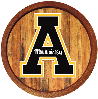 Appalachian State Mountaineers 20 inch Barrel Team Logo Wall Sign-Primary Logo-Color | Grimm Industries |AP-240-01