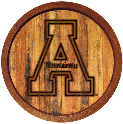 Appalachian State Mountaineers 20 inch Barrel Team Logo Wall Sign-Primary Logo-Branded | Grimm Industries |AP-240-02
