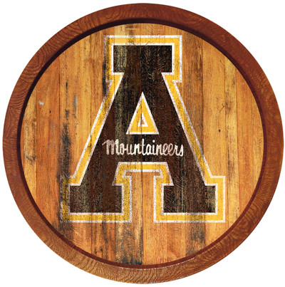 Appalachian State Mountaineers 20 inch Barrel Team Logo Wall Sign-Primary Logo-Weathered | Grimm Industries |AP-240-03