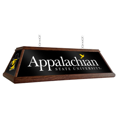Appalachian State Mountaineers 49 inch Premium Deluxe Wood Pool Table Light-Institution Logos | Grimm Industries |AP-330-01