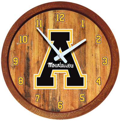Appalachian State Mountaineers 20 inch Barrel Team Logo Wall Clock-Primary Logo-Color | Grimm Industries |AP-560-01