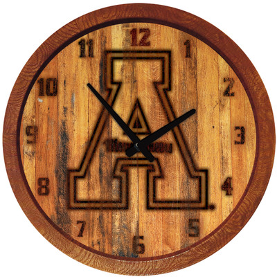 Appalachian State Mountaineers 20 inch Barrel Team Logo Wall Clock-Primary Logo-Branded | Grimm Industries |AP-560-02