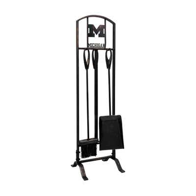 Michigan Wolverines Fireplace Tool Set   Imperial   737-3009