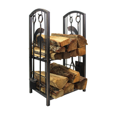 Michigan State Spartans Fireplace Wood Holder and Tool Set  | Imperial International | 738-3016