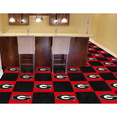Georgia Bulldogs Carpet Tiles | Fanmats | 8512
