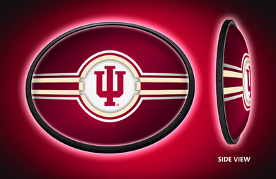 Indiana Hoosiers Slimline Illuminated LED Team Spirit Wall Sign | Grimm Industries |IN-140-01