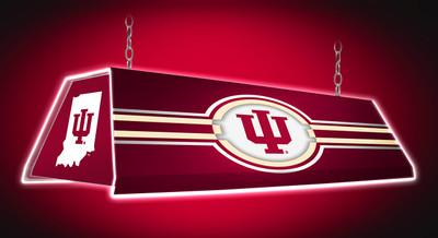 "Indiana Hoosiers 46"" Edge Glow Pool Table Light-Red |Grimm Industries | IN-320-01"