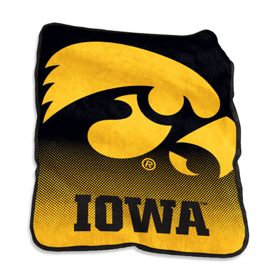 Iowa Hawkeyes Raschel Throw Blanket | Logo Brand | 155-26A