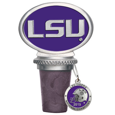 LSU Tigers National Champions Bottle Stopper | Heritage Pewter | BS11226EP