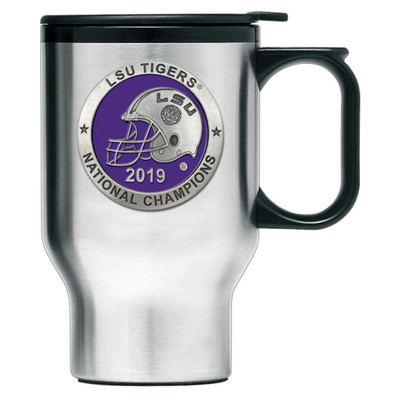 LSU Tigers National Champions Travel Coffee Mug | Heritage Pewter | TM11226EP