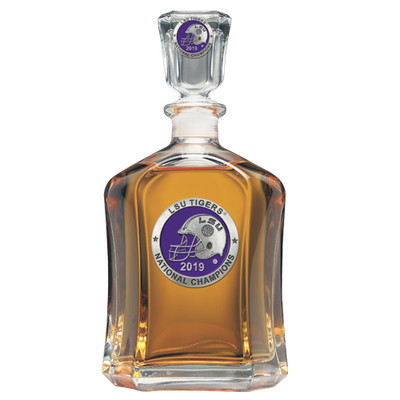 LSU Tigers National Champions Capitol Decanter   Heritage Pewter   CPT11226EP