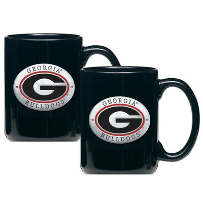 Georgia Bulldogs Coffee Mug Set of 2 | Heritage Pewter | CM10005ERBK