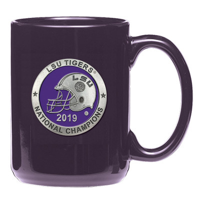 LSU Tigers National Champions Coffee Mug | Heritage Pewter | CM11226EPPL