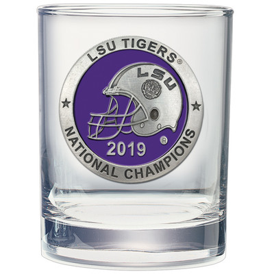 LSU Tigers National Champions Cocktail Glass| Heritage Pewter | DOF11226EP