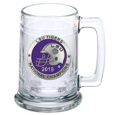 LSU Tigers National Champions Beer Mug | Heritage Pewter | ST11226EP