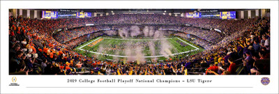 LSU Tigers Panoramic National Champions Photo Print | Blakeway | CFPC20LSU