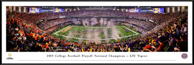 LSU Tigers National Champions Standard Frame Panoramic Photo| Blakeway | CFPC20LSUF