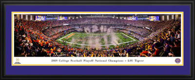 LSU Tigers National Champions Panoramic Photo Deluxe Matted Frame | Blakeway | CFPC20LSUD