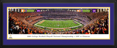 LSU Tigers National Champions Kickoff Panoramic Photo Deluxe Matted Frame | Blakeway | CFPKC20LSUD