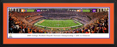 Clemson Tigers National Championship Kickoff Panoramic Photo Deluxe Matted Frame | Blakeway | CFPKC20CLEMD
