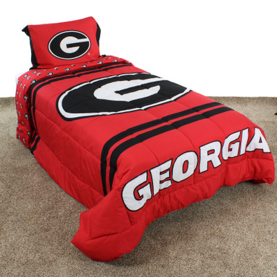 Georgia Bulldogs Reversible Comforter Set | College Covers | GEONPCMTW