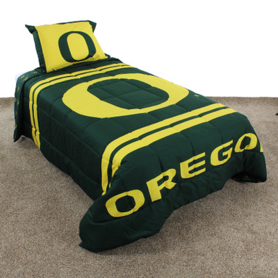 Oregon Ducks Reversible Comforter Set | College Covers | ORENPCM