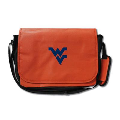 West Virginia Mountaineers Basketball Messenger Bag   Zumer Sport   wvbskblmes