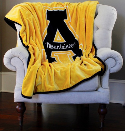 Appalachian State Mountaineers Plush Reversible Blanket | Dormitory 101 | APPST6080REV192