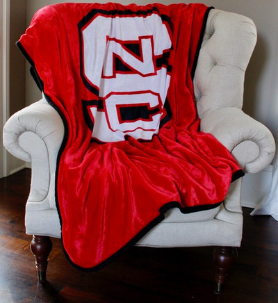 NC State Wolfpack Plush Reversible Blanket | Dormitory 101 | NCSU6080REV173