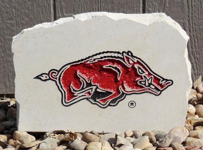 Arkansas Razorbacks Decorative Stone medium| Stoneworx | ark6