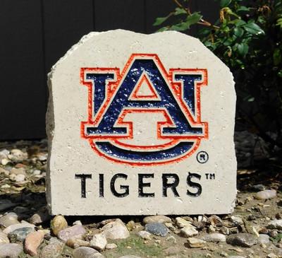 Auburn Tigers Decorative Stone AU Tigers Logo| Stoneworx | aub5