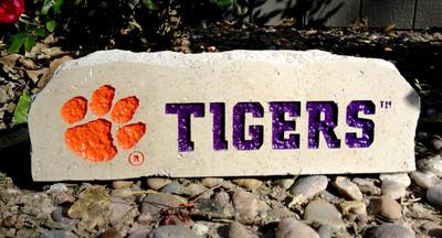 Clemson Tigers Decorative Stone Long| Stoneworx | clem4
