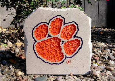 Clemson Tigers Decorative Stone Paw 7