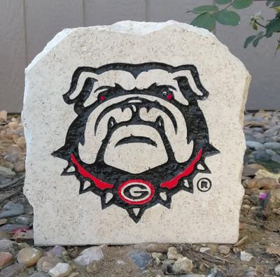 Georgia Bulldogs Decorative Stone Bulldog7| Stoneworx | ga5