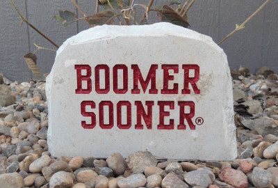 Oklahoma Sooners Decorative Stone Boomer Medium | Stoneworx | okl8